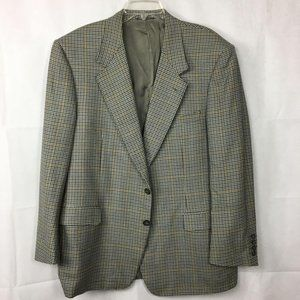Canali Gray Black Check Wool Sport Coat Sz 48R